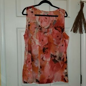 Dress barn sleeveless colorful blouse size 3x